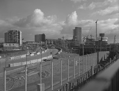 London 2012 Olympic Site; Stratford Skyline (Nicholas Middleton) Tags: london largeformat stratford greenway hackneywick 5x4 orthofilm 2012olympicsite schneiderkreuznachxenar adoxort25 mppmicrotechnicalmkvi