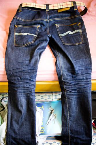 blue indigo jeans denim nudie