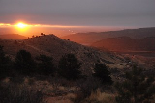 Sunrise from Horsetooth Mountain Park, Fort Co...
