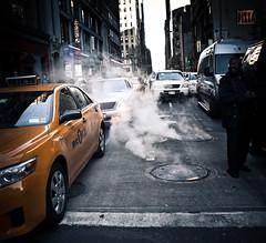 steam it up, new york city 2011 (pamela ross) Tags: street usa newyork cars america pen unitedstates cab olympus steam line ep1