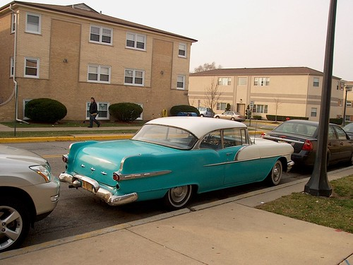 A classic American automobile from the 1950's. Elmwood Park Illinois USA. November 2006. by Eddie from Chicago