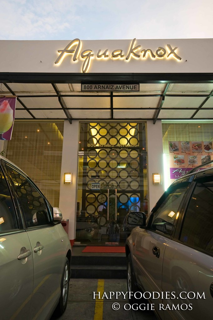 Facade of Aquaknox Restaurant in Makati