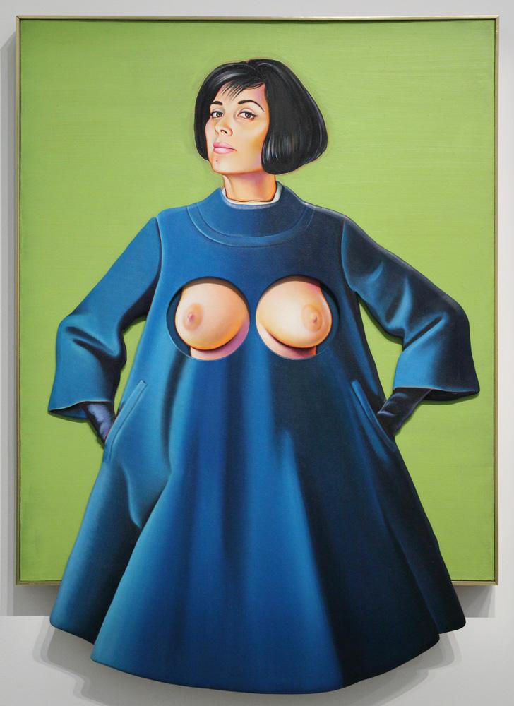 Mel Ramos, Blue coat, 1967