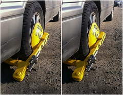 You will pay those tickets now (anobjectn) Tags: urban ny st boot stereoscopic stereophotography 3d crosseye upstate upstateny albany handheld chacha albanyny dmv depth iphone immobilized 3dimensional immobilizer crossview crosseyedstereo 3dphotography parkingboot 3dstereo takenoffthestreet parkingimmobilizer dmvimmobilizer