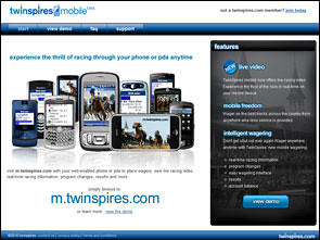 TwinSpires Sportsbook Lobby