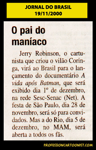 """O pai do maníaco"" - Jornal do Brasil - 19/11/2000"