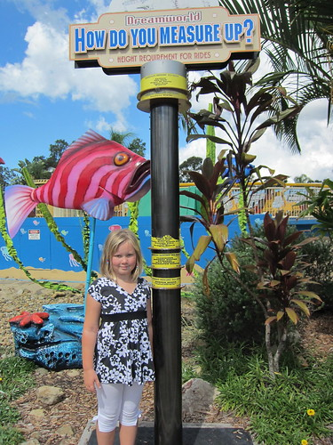Finally tall enough for ALL the rides at Dreamworld