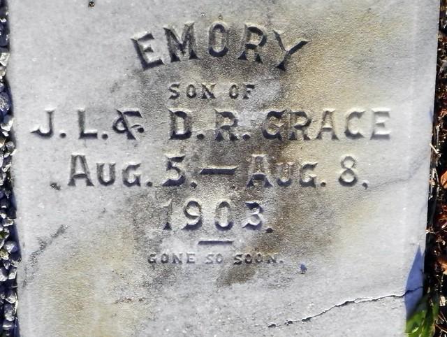 Emory Grace Grave Inscription