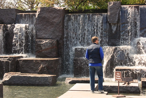 Matt at the FDR Memorial