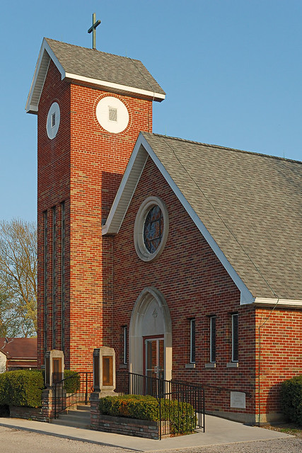 Saint Nicholas Roman Catholic Church, in Pocahontas, Illinois, USA - exterior