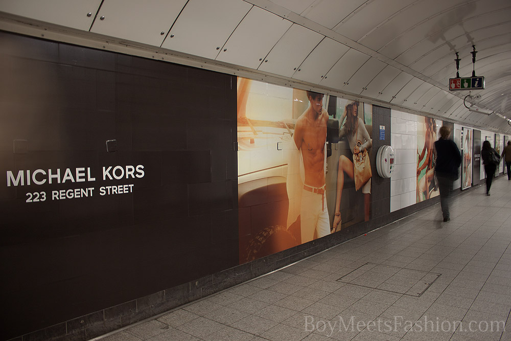 MICHAEL KORS advertisements around central London