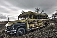 'DA POLISH MINI WINNIE' (DarinPond) Tags: canon south tokina schoolbus dakota hdr t2i 1116mm