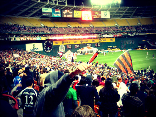 DC United Supporters Go Crazy