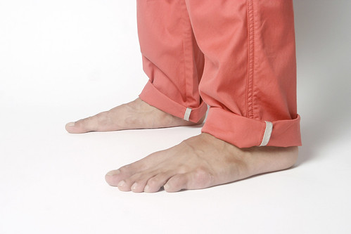 salmon band pants