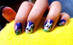 * (Larioyama) Tags: bunny easter páscoa nails coelho unhas nailart