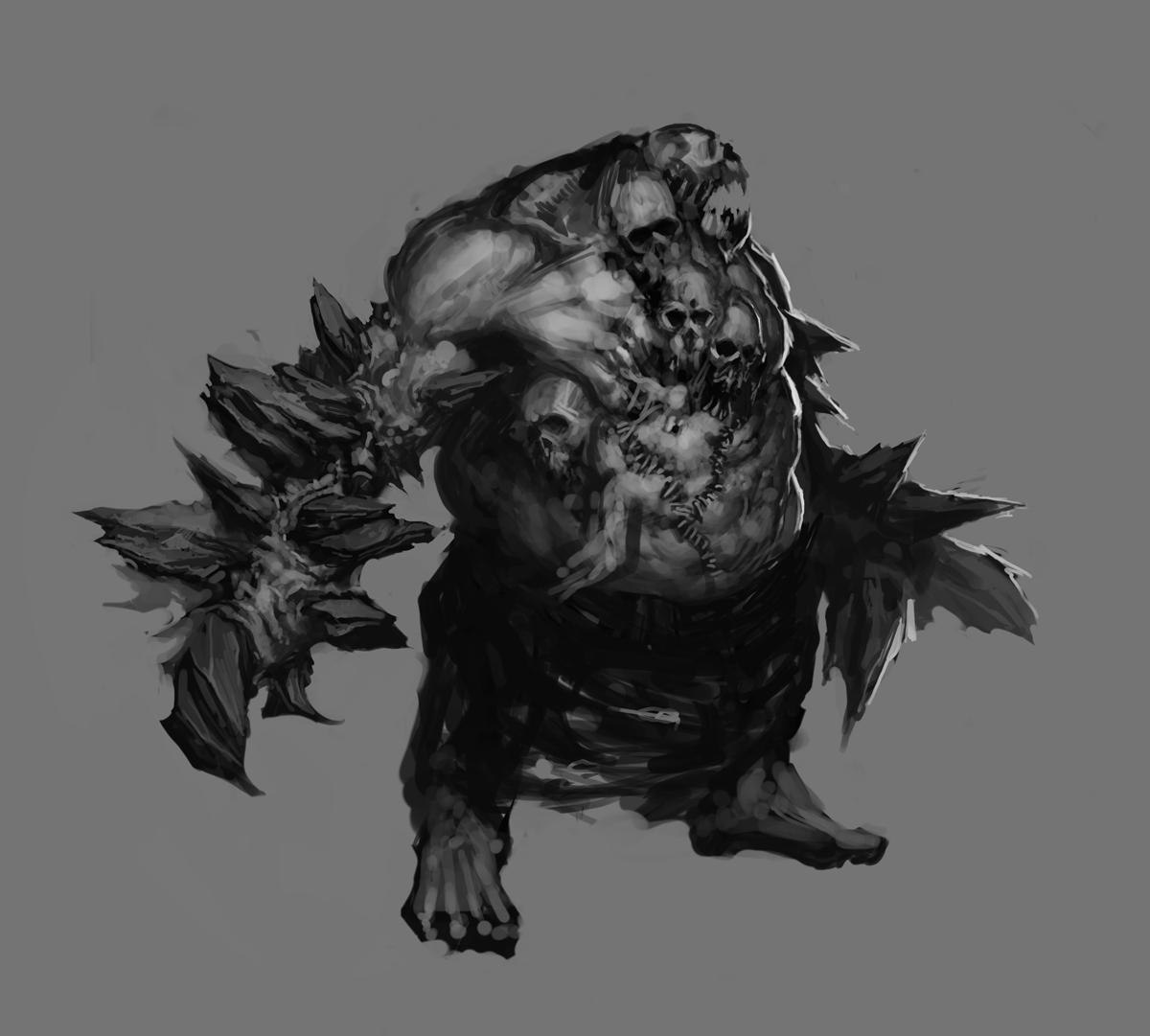 Concept art del demone InsepoltoZombie Hunter Concept Art