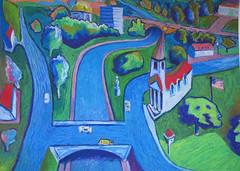 Oil pastel (old work) 82 (Martin Beek) Tags: colour texture america artwork drawing vivid study wax crayon oilpastel martinbeek