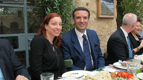 JTB Managing Director Nayef Al-Fayez with Leslie Koch in Madaba Jordan