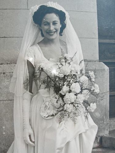 Freda as bride, 1948