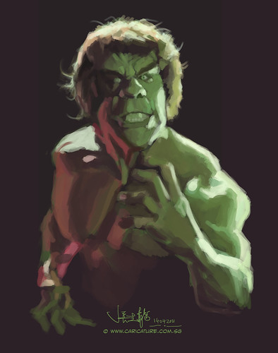 digital sketch study 2 of Lou Ferrigno - 1
