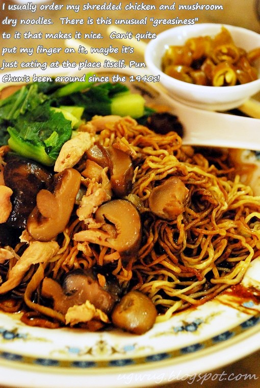 Shredded Chicken and Mushroom Dry Noodles