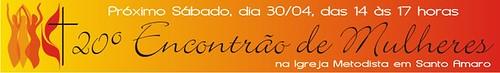 Convite para o 20º Encontrão de Mulheres by Cantinho da Aracy