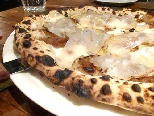 Sunchokes, Lardo Pizza