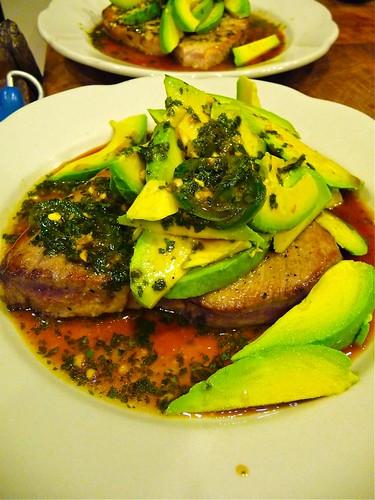 Pan-Seared Tuna with Avocado – Tyler Florence style ...