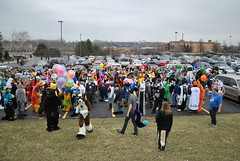 The end of the fursuit parade