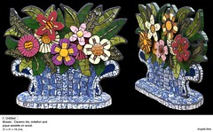 1. Untitled (Angela Ibbs Mosaics at BreezyB5) Tags: flowers ceramic mosaic flowerarrangement centrepiece blueandwhitechina angelaibbs