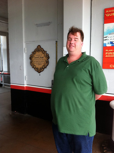 Queen Mary - Mike Outside Our 'Secret' Door