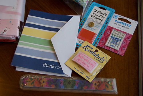 bonus items from 1 Choice 4 Quilting