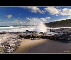 Light and Shade [Explored] (The0dora Photography) Tags: light sea sky water clouds rocks shade splash sigma1770 susangilmorebeach canon7d dorcam16