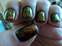 Preto Fosco, Risqué + Raio Alfa, Big Universo (thaisfartes) Tags: nail nails nailpolish unhas unha esmalte flakie flocado flakies biguniverso