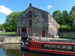 Standedge Visitor Centre (jrw080578) Tags: trees buildings boats canal yorkshire narrowboats huddersfieldnarrowcanal