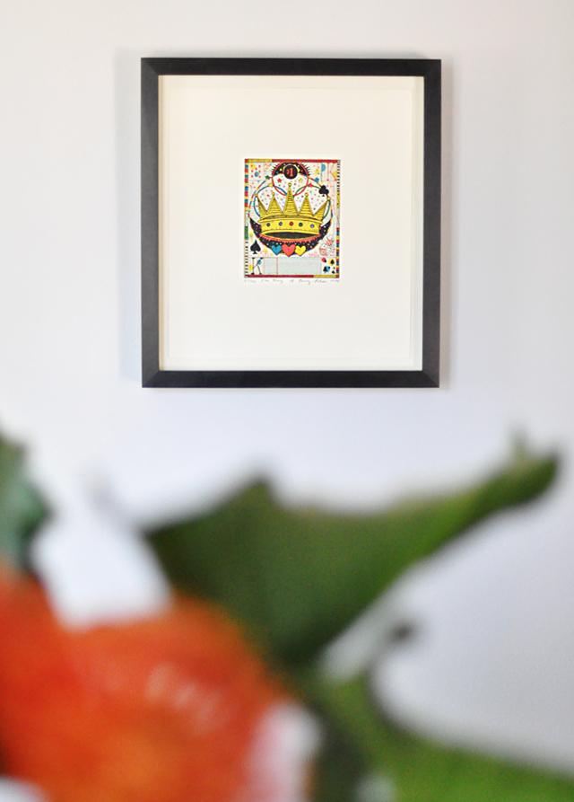 Tony Fitzpatrick etching King Penny Poker+art