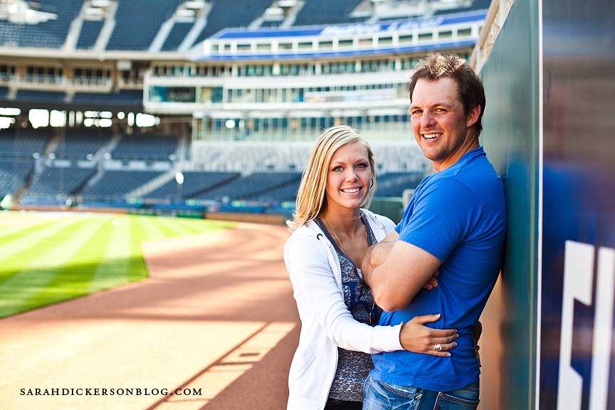 Kauffman Stadium engagement photographer