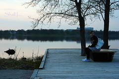 compare thee to a summer's day? (aliasalreadytaken) Tags: lake girl canon 350d evening poetry sweden shakespeare vxj 28135isusm