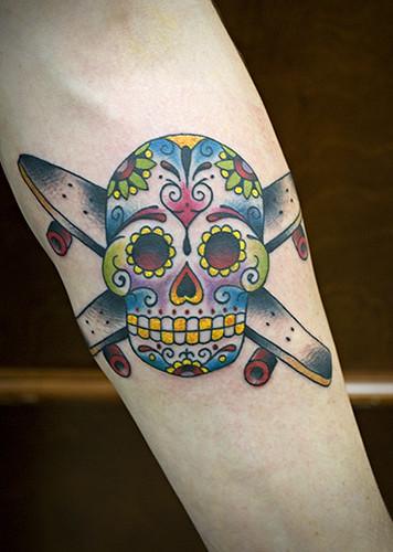 skateboard tattoos. Skateboard tattoos are always