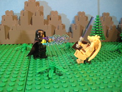 The Adventures Of Jar Jar - don't attack sith when only level 2 jedi (FafWorld) Tags: game star lego rpg wars roleplaying