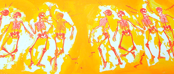 Dancing skeletons, photo by Olivia Guswiler