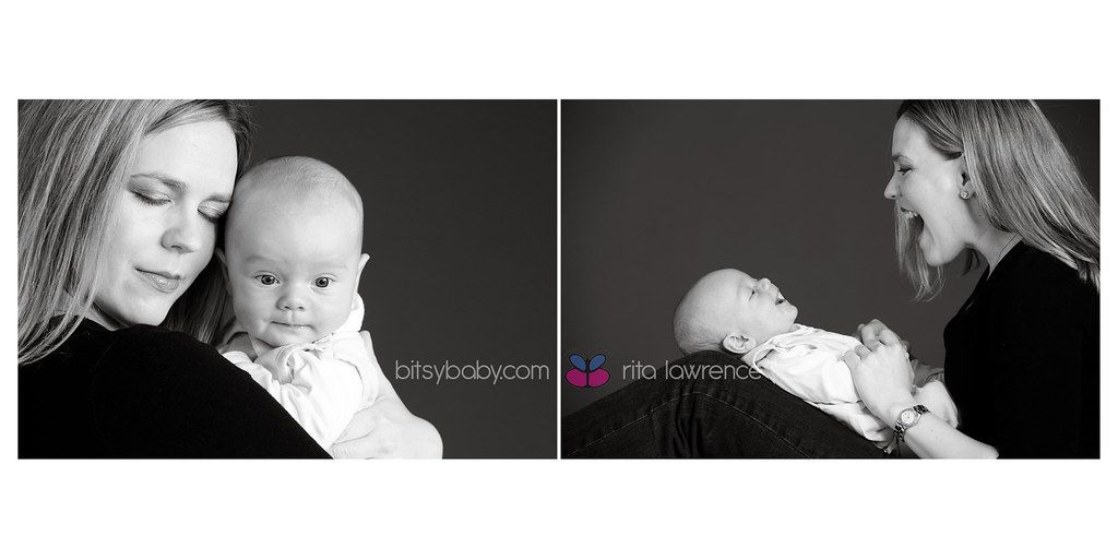 baby photography studio black and white