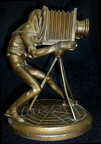 French Metal Photographer Figure with View Camera - 19th Century by photo_history