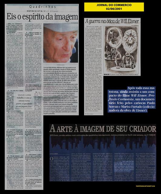 """""""Eis o espírito da imagem"""" - Jornal do Commercio - 02/06/2001"""