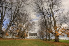 Fall in The Shire (Explore) (Vicen Feli Photography) Tags: trees fall architecture landscape newengland newhampshire canterbury meetinghouse shakers hdr vicen photomatix canterburyshakervillage theshire abigfave nikond80 feli tamron18270 sabreur76 vicenfeli