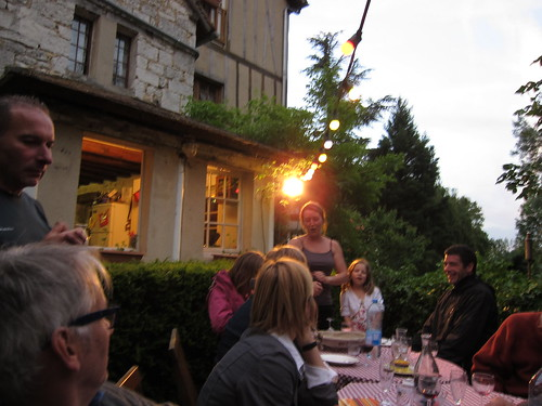 Dinner at the inn in Giverny