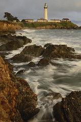 Pigeon Point Lighthouse (Marc Briggs) Tags: ocean lighthouse beach rocks waves pacific pigeonpoint pigeonpointlighthouse dsc2892a