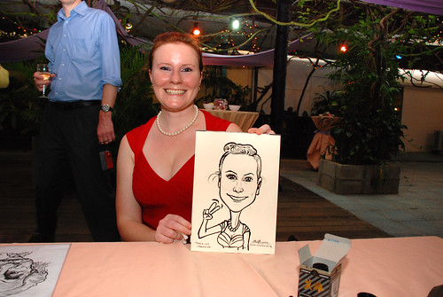 Caricature live sketching for Mark and Ivy's wedding solemization - 11