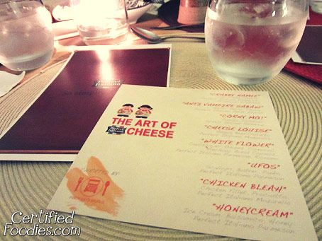 The menu and the theme of the Mystery Dinner was revealed - The Art of Cheese - CertifiedFoodies.com