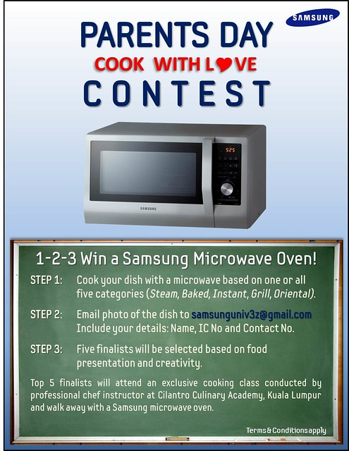 Samsung Parents' Day Cook with Love Contest Poster